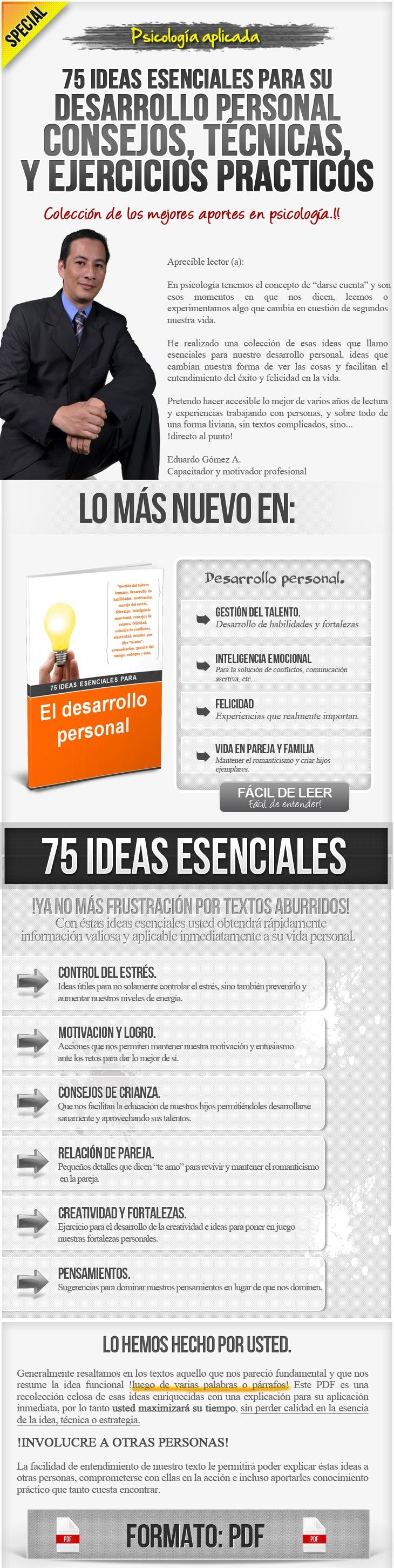 PDF con 75 ideas esenciales