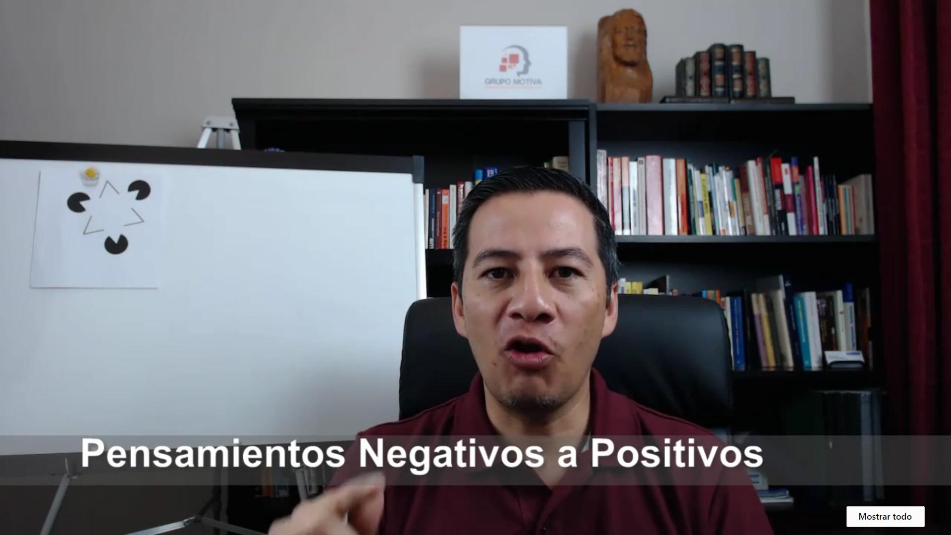 Eliminar pensamientos negativos y convertirlos a pensamientos positivos a mediano plazo pero permanentemente.